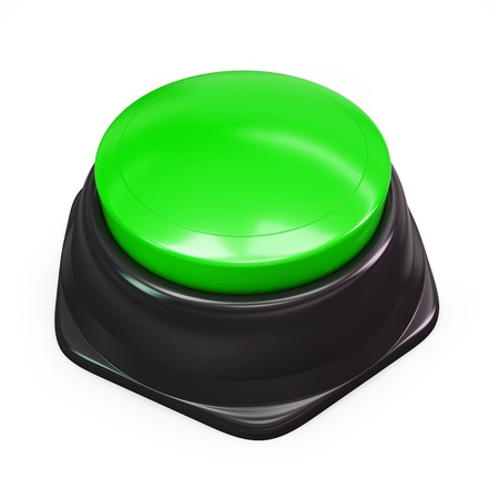 3d green blank button isolated on white photo