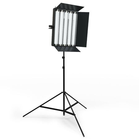 tubus: 3d studio lighting isolated on white background