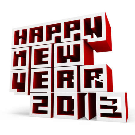 3d Happy New Year 2013 on white background photo