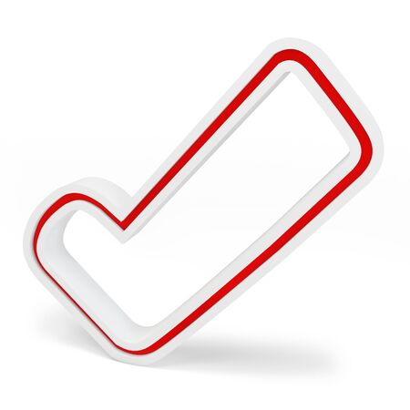 accept icon: 3d check mark on white background Stock Photo