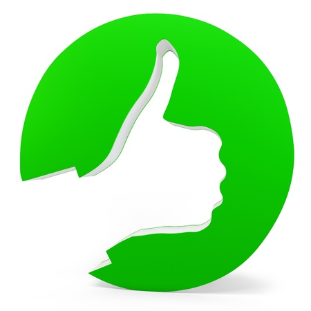 3d ok sign with hand design on white background Stock Photo - 15320141