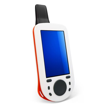gps device: 3d portable gps  device on white background