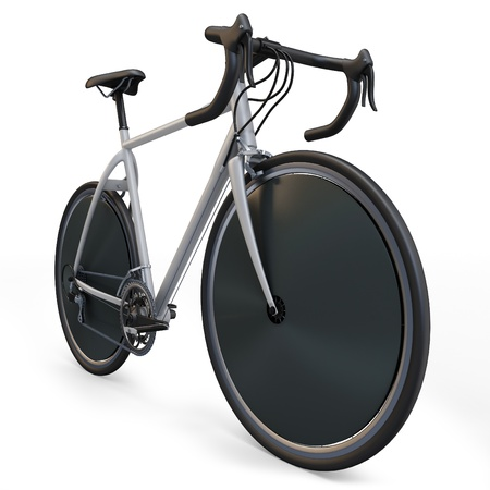 bicycle seat: 3d sport race bike detailed on white background