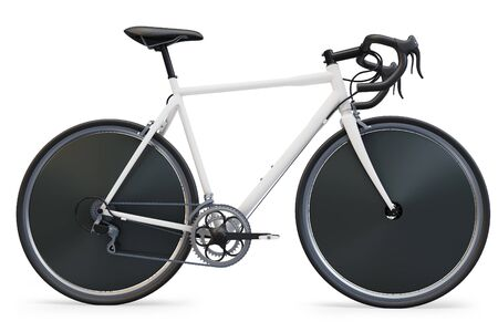 3d sport race bike detailed on white background photo