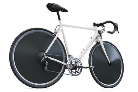 circuit brake: 3d sport race bike detailed on white background
