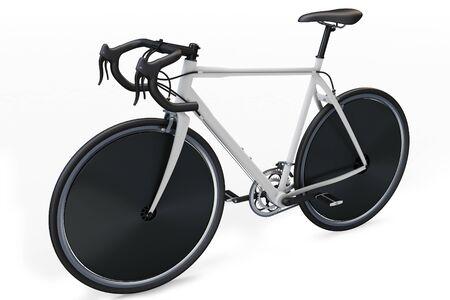 off road biking: 3d sport race bike detailed on white background