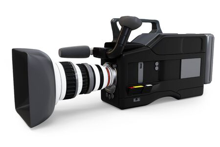 video camera: 3d video camera on white background
