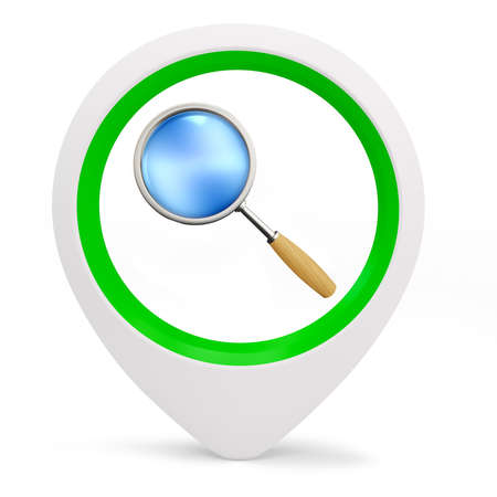 3d round pointer with search service on white background Stock Photo - 16015963