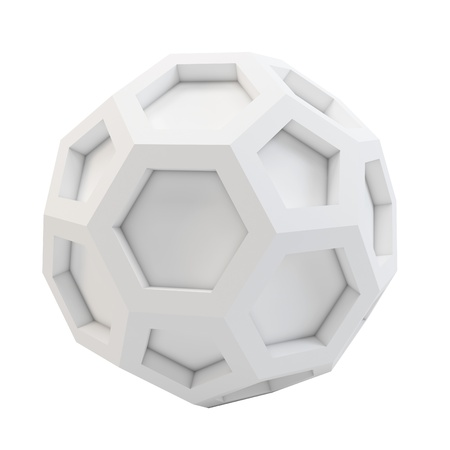 3d icosahedron abstract model on white background photo