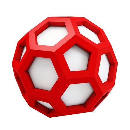solid figure: 3d icosaedro modello astratto su sfondo bianco