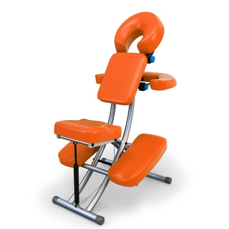 3d gedetailleerde massage stoel op witte achtergrond