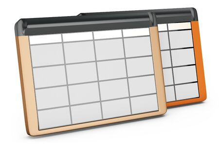 data base: 3d database tables on white background