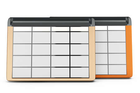 data entry: 3d database tables on white background