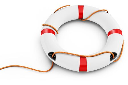 rescue signs:  3d detailed lifebuoy  on white background