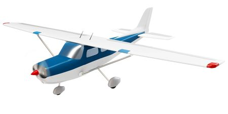 3d small plane  isolated on white background photo