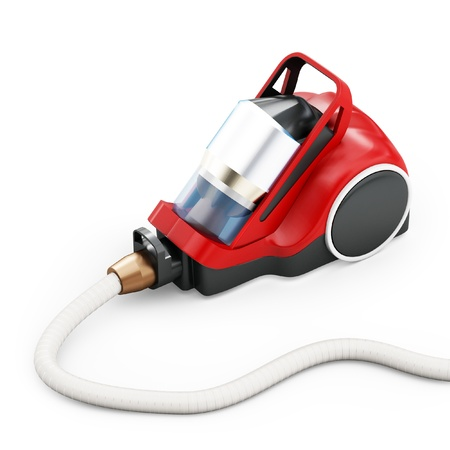 electrical appliances: 3d vacuum cleaner  isolated on white background