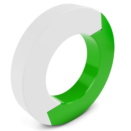 3d arrow circle isolated on the white  photo