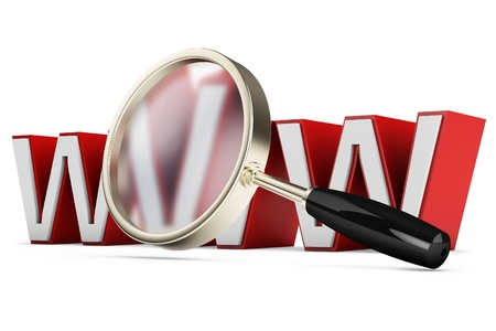 3d magnify glass, internet search concept on white background Stock Photo - 20059882