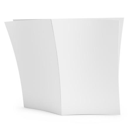 magazine stack: 3d blank newspaper on white background