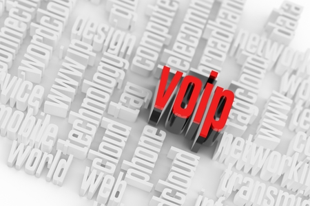 mobile voip: 3d VOIP Wordcloud Internet Concept