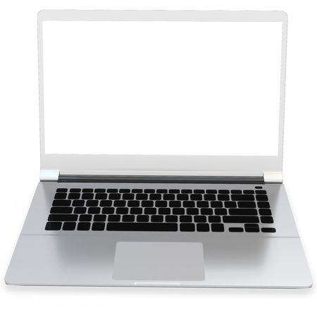 flexible business: 3d detailed laptop on white background Stock Photo