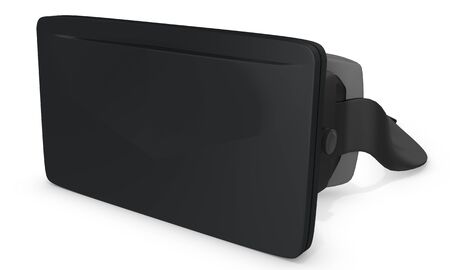3d big reality goggles on white background