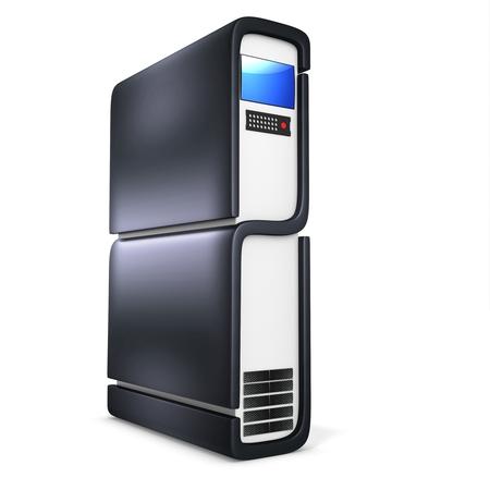 3d server blade unit on white background