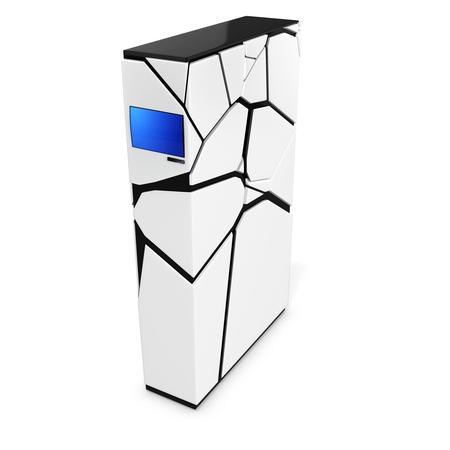 blade: 3d server blade unit on white background