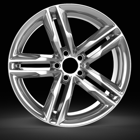 rim: 3d detailed wheel rim on black background