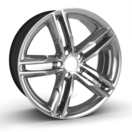 rim: 3d detailed wheel rim on white background