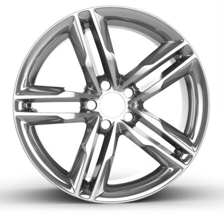 wheel rim: 3d detailed wheel rim on white background
