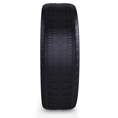 traction: 3d car tire, wheel on white background