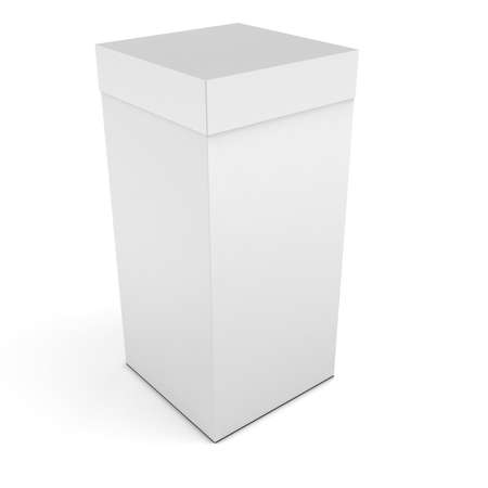 product box: 3d blank product box packaging on white background Stock Photo