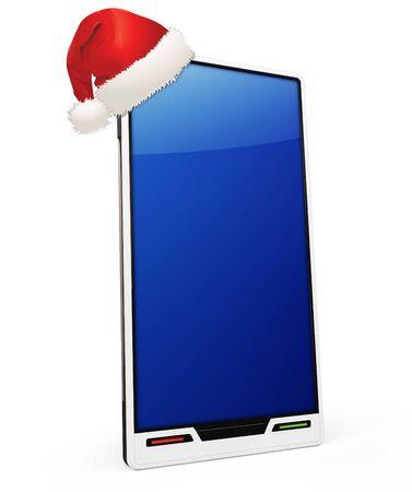 electronic organizer: 3d generic smartphone on white background Stock Photo