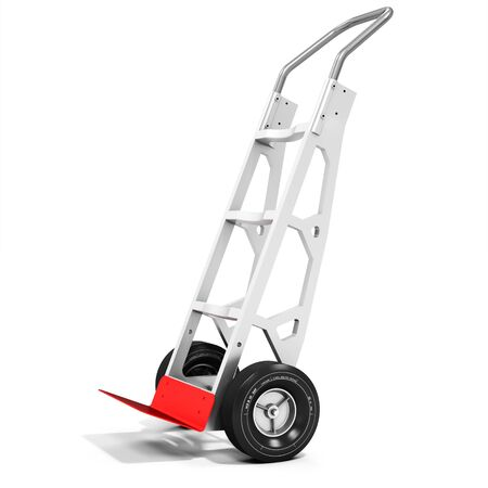 handtruck: 3d empty Hand-Truck on white background. Stock Photo