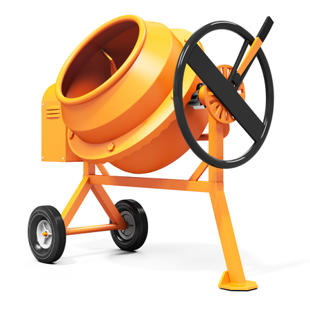 cement mixer: 3d detailed cement mixer isolated on white background