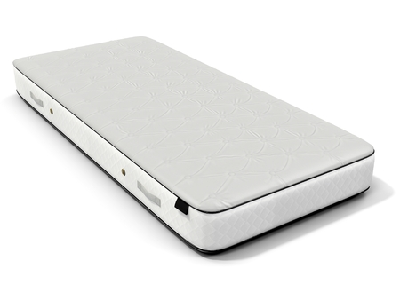 mattress: 3d detailed white mattress on white background