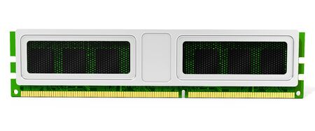 mb: 3d computer RAM memory module on white background