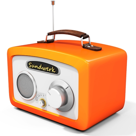 generic: 3d generic vintage radio on white background 3D illustration Stock Photo