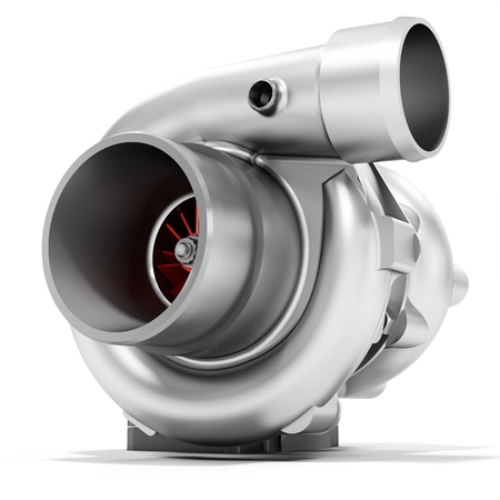 charger: 3d turbine turbo charger, car booster on white background 3D illustration