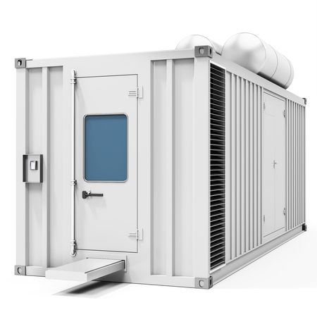 power supply unit: 3d mobile power station container on white background 3D illustration