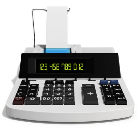 cash: 3d cash register on white background 3D illustration