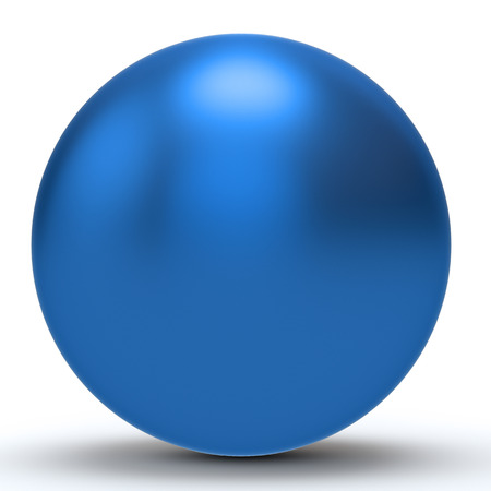 blue sphere: 3d blue  sphere on white background 3D illustration Stock Photo