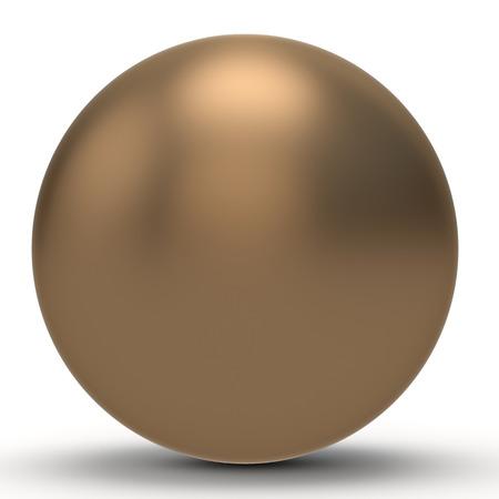 cobre: 3d esfera de cobre sobre fondo blanco Ilustración 3D