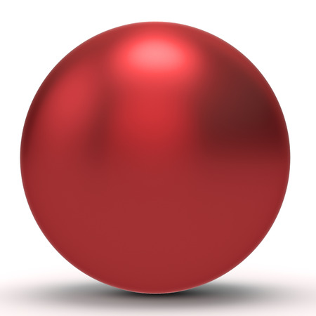 red sphere: 3d red  sphere on white background 3D illustration