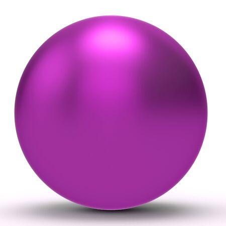 magenta: 3d magenta sphere on white background 3D illustration