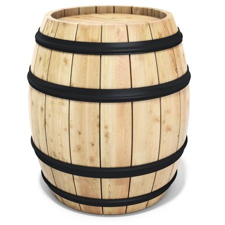 barrels: 3d wine barrel on the white background 3D illustration