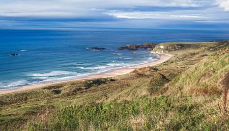 northern ireland: scenic coastal view with beach, Northern Ireland