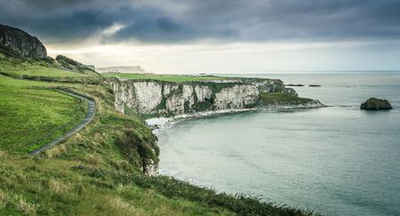 northern ireland: scenic coastal view with pathway, Northern Ireland
