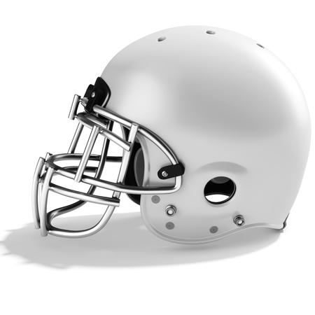 american football helmet: 3d White American football helmet on a white background